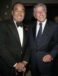 Bobby Short and Tony Bennett at the Surprise 80th Birthday Party For Bobby Short.