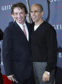 Martin Short and Jeffrey Katzenberg at the premiere of