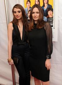 Dominik Garcia-Lorido and Emily Mortimer at the premiere of