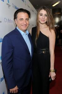 Andy Garcia and Dominik Garcia-Lorido at the premiere of