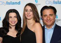 Julianna Margulies, Dominik Garcia-Lorido and Andy Garcia at the premiere of