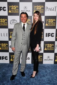 Andy Garcia and Dominik Garcia-Lorido at the 25th Film Independent Spirit Awards.