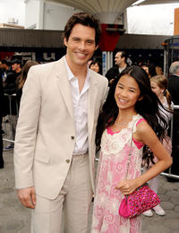 James Marsden and Tiffany Espensen at the California premiere of