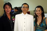 Robin Shou, Jareuk Kaljareuk and Thi Giang Nguyen at the Golden Kinnaree Awards 2008 during the Bangkok International Film Festival 2008.