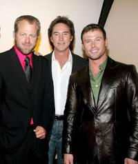 Kin Shriner, Drake Hogestyn and Jacob Young at the pre-party to benefit St. Jude Children's Research Hospital.