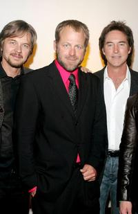 Stephen Nichols, Kin Shriner and Drake Hogestyn at the pre-party to benefit St. Jude Children's Research Hospital.