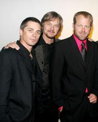 Billy Warlock, Stephen Nichols and Kin Shriner at the pre-party to benefit St. Jude Children's Research Hospital.