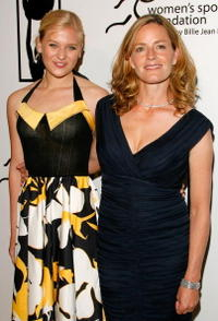 Elisabeth Shue and Carly Schroeder at