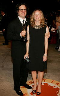 Elisabeth Shue and Davis Guggenheim at the 2007 Vanity Fair Oscar Party.