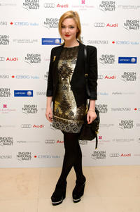 Holliday Grainger at the English National Ballets Christmas Party in England.