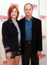 Colby Minifie and David Hyde Pierce at the cast photocall of