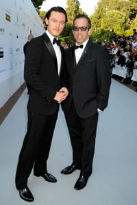 Luke Evans and Kenneth Cole at the amfAR's Cinema Against AIDS 2010 benefit gala.