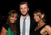 Sharni Vinson, Chris Hemsworth and Kim Johnson at the Australians In Film's 2010 Breakthrough Awards.