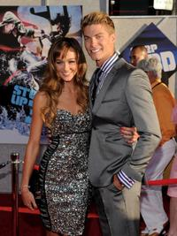 Sharni Vinson and Joe Slaughter at the world premiere of