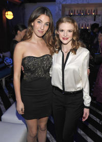 Rainey Qualley and Ashley Bell at the Hollywood Foreign Press Association (HFPA) and InStyle presents