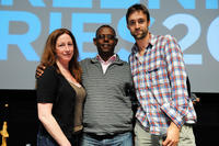 Director Deborah Scranton, Jean Pierre Sagahutu and Reid Carolin at the press conference of