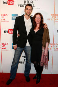 Reid Carolin and director Deborah Scranton at the premiere of