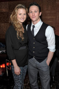 Grace Gummer and Jonathan Tucker at the after party of