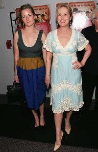 Grace Gummer and Meryl Streep at the New York premiere of