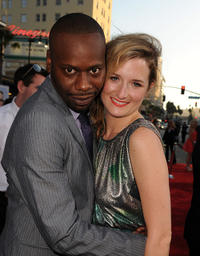 Malcolm Barrett and Grace Gummer at the red carpet of the California premiere of