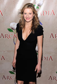 Grace Gummer at the after party of the Broadway Opening Night of