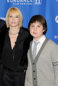 Ellen Barkin and Daniel Yelsky at the premiere of