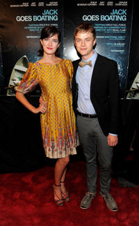 Anna Wood and Dane DeHaan at the New York premiere of