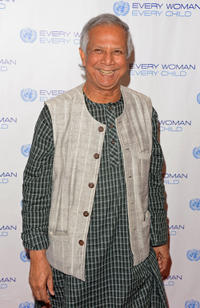 Muhammad Yunus at the United Nations Every Woman Every Child Dinner 2012 in United States.