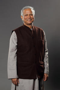 Muhammad Yunus at the portrait session during the Digital Life Design (DLD) conference in Germany.