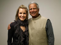 Director Gayle Ferraro and Muhammad Yunus at the portrait session during the 2010 Sundance Film Festival in Utah.