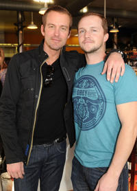 Gunner Wright and writer Will Eubank at the premiere of
