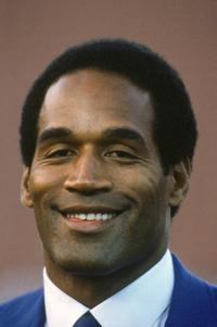O.J. Simpson at the season game on Monday Night Football circa.
