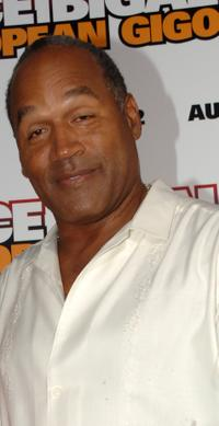 O.J. Simpson at the premiere of