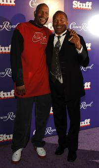 Ron Harper and O.J. Simpson at the Jermaine Dupri and the Crown Royal's Kentucky Derby Bash.