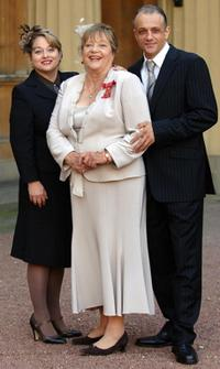 Beatie, Sylvia Syms and Ben Edney at the Buckingham Palace.