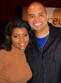 Taraji P. Henson and Sinbad at the Mercedes Benz Fashion Week.