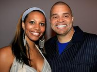Sinbad and his wife Meredith Adkins at the Mercedes Benz Fashion Week.