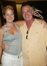 Edie Falco and Tony Sirico at the special screening of HBO Sports