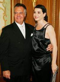 Tony Sirico and Julianna Margulies at the Skin Cancer Foundation's Annual Skin Sense Award Gala.