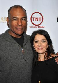 Michael Dorn and Marina Sirtis at the Wrap Party of TNT's