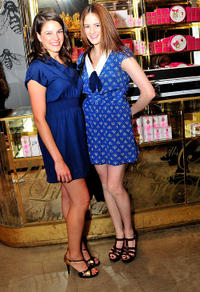 Ellen Tremaine and Emily Tremaine at the Juicy Couture celebration of Fashion's Night Out 2010 in New York.
