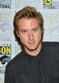 Arthur Darvill at the press line of