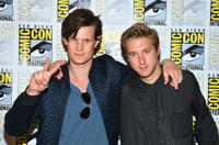 Matt Smith and Arthur Darvill at the press line of