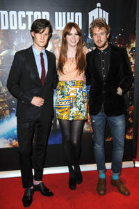 Matt Smith, Karen Gillan and Arthur Darvill at the London premiere of