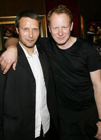 Stellan Skarsgard and Mads Mikkelsen at the world premiere of