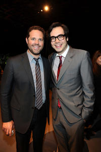 David Denman and Nelson Franklin at the Twentieth Century Fox 75th Anniversary party in California.