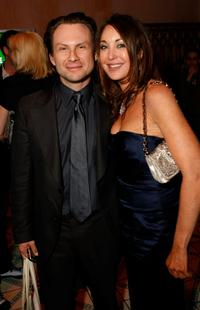 Christian Slater and Tamara Mellon at the Global Green 5th Annual Awards Season Celebration.