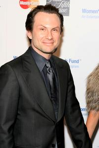 Christian Slater at the Saks Fifth Avenue's