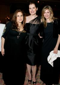Kathy Najimy, Geena Davis and Helen Slater at the Beverly Hills Hotel in California.