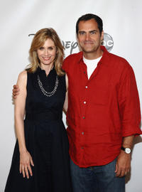 Helen Slater and Andy Buckley at the Disney ABC Television Group's
